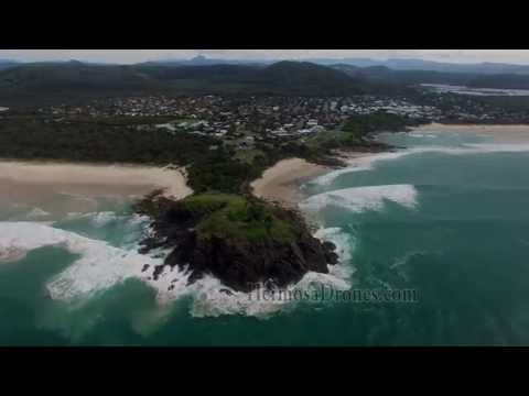 Dronie at Cabarita Headland, Gold Coast, Australia