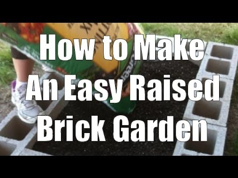 Making A Raised Bed With Bricks