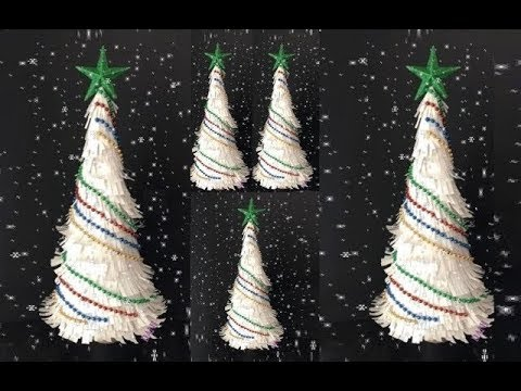 DIY: White Christmas Sparkle Tree made out of Paper