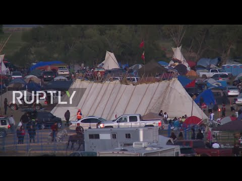 """USA: Oil company has already """"ploughed"""" through a sacred burial site in Dakota"""