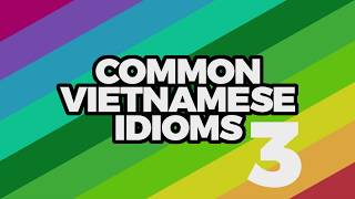 Common Vietnamese Idioms - Part 3 | Learn Vietnamese with TVO
