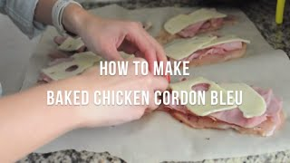How To Make Baked Chicken Cordon Bleu | @cooksmarts