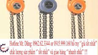 GIÁ BÁN - Pa lăng xích kéo tay Vital,nito 5 tấn-3m, 5 tấn-5m, 5 tấn-6m, 5 tân-10m.5 tấn 15 m
