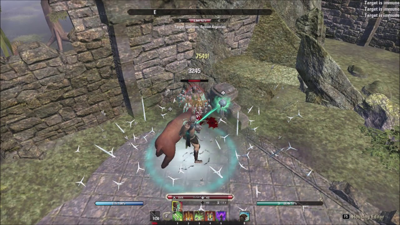 ESO Stamina Warden (2H) 40 2k Solo Robust Dummy + Explanation - Summerset  PTS