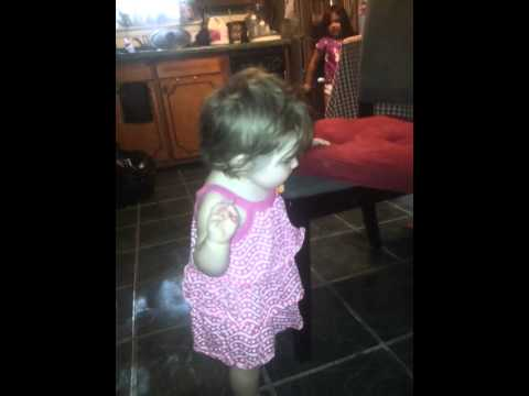 1 year old gymnastics prodigy. Amazing doing backf