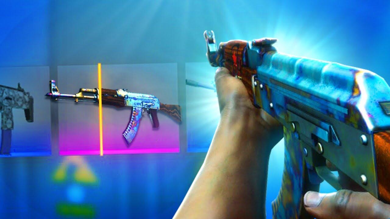 EM BUSCA da AK-47 BLUE GEM! (Abri as caixas mais antigas do CS:GO)