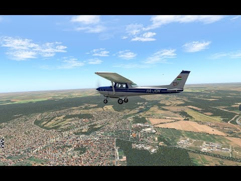 X-Plane 11 - Flying around airports near to Budapest with Nhadrian's C152
