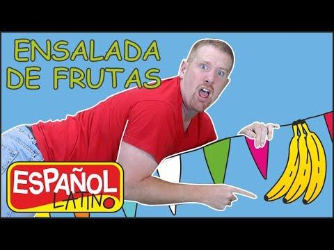 Ensalada de Frutas | Aprender con Steve and Maggie Español Latino