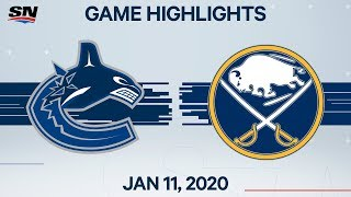 NHL Highlights   Canucks vs Sabres – Jan. 11, 2020
