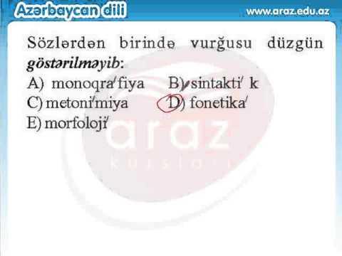 Azərbaycan Dili - TEST 45