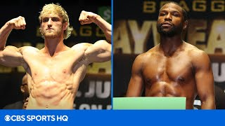 Floyd Mayweather vs Logan Paul Weigh In & Interviews | CBS Sports HQ