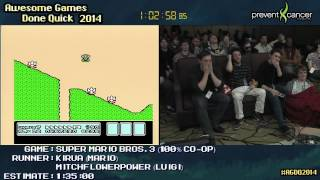 Super Mario Bros 3 SPEED RUN :: 100% Co-op (1:26:34) +Any% Run [NES] #AGDQ 2014