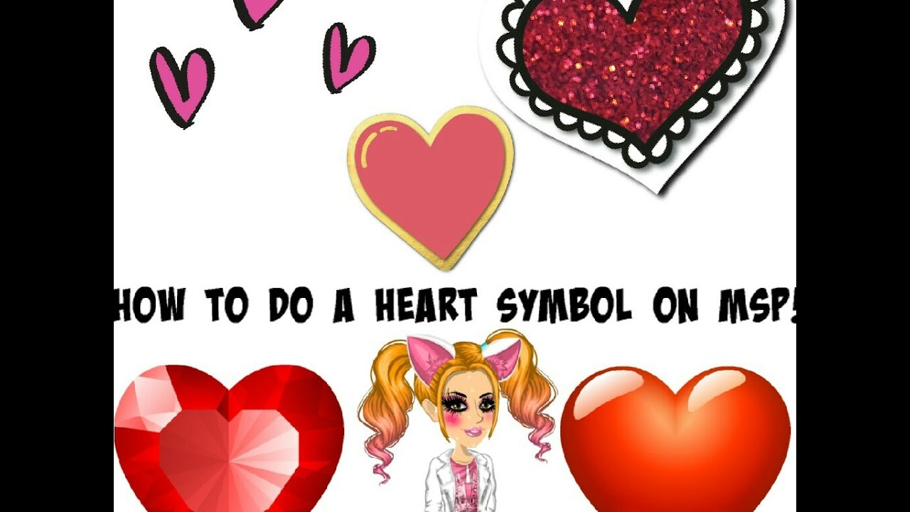 How To Do A Heart Symbol On Msp Youtube