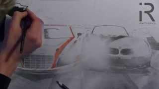 drawing an Audi R8 LMS & BMW Z4 GT3 (NfS Shift 2)