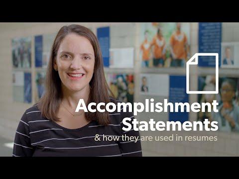 Accomplishment Statements