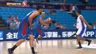 Kuwait player loses his cool | 2015 FIBA ASIA CHAMPIONSHIP
