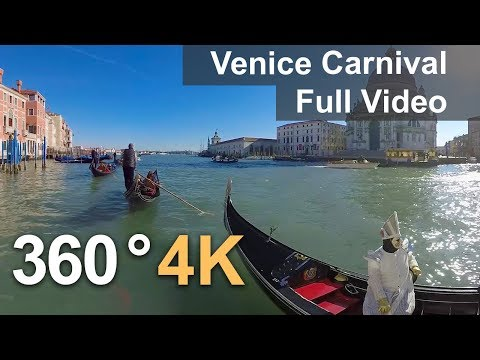 360°, Carnival Of Venice, Italy. 4К Video