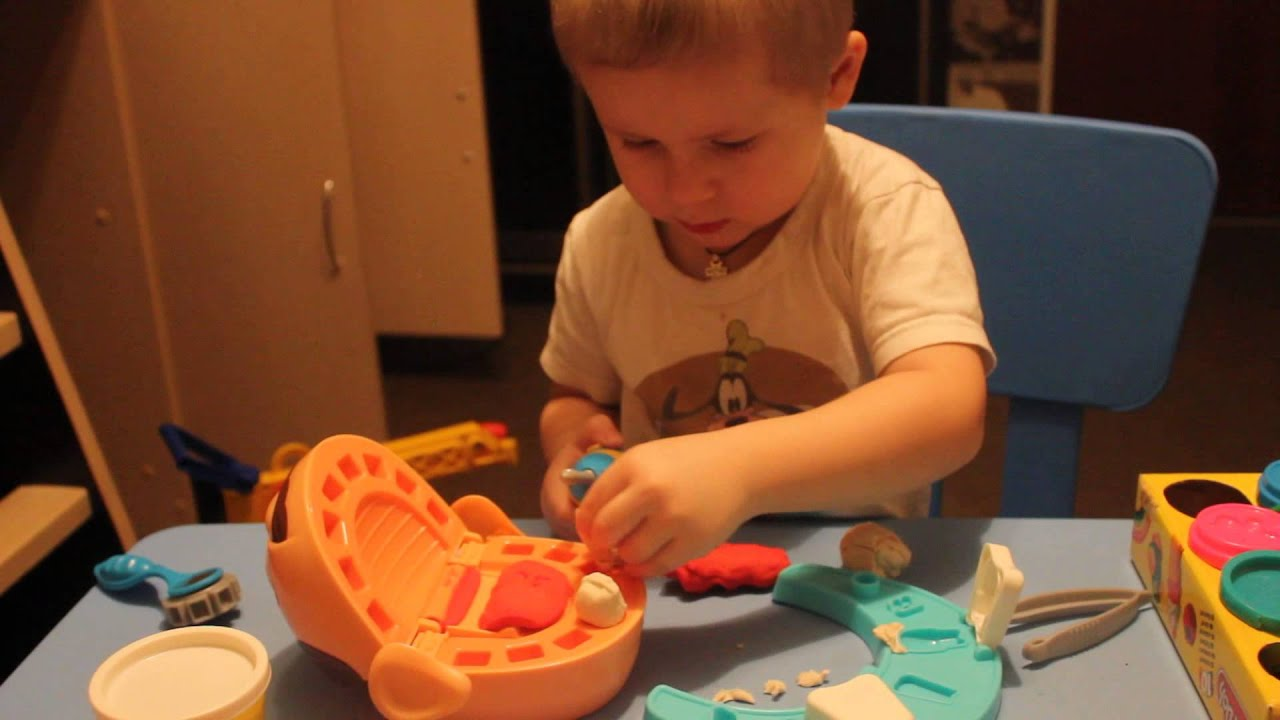 Hasbro Play Doh Игровой набор Пластилина Мистер Зубастик - YouTube