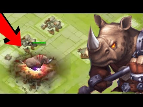 New Hero Rockno Gameplay HE IS REALLY A BEAST | Castle Clash