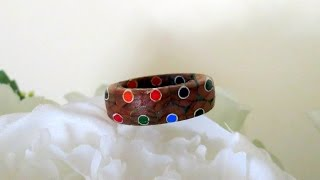 Wood Turning A Multicolored Ring