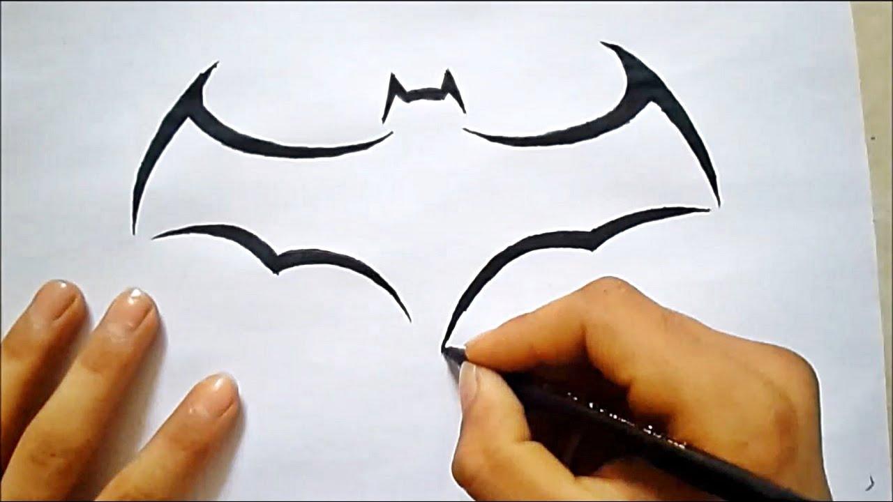 Batman Logo çizimi Batman çizimi Youtube