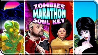 """ZOMBIES MARATHON """"EASTER EGG"""" All 4 MAPS - Call Of Duty Zombies - Infinite Warfare Zombies"""