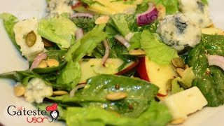 Reteta de Salata cu Mere, branza Roquefort si Spanac