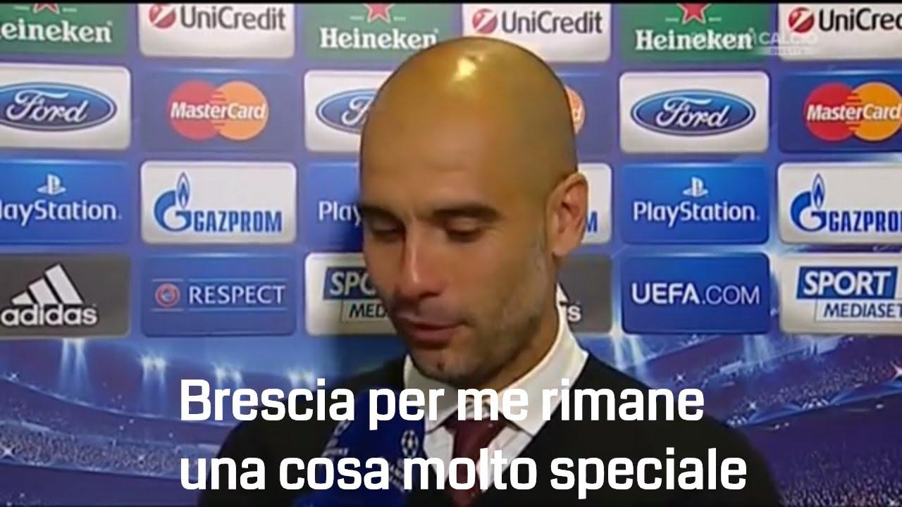 Sentite cosa dice Pep Guardiola sul Brescia - YouTube