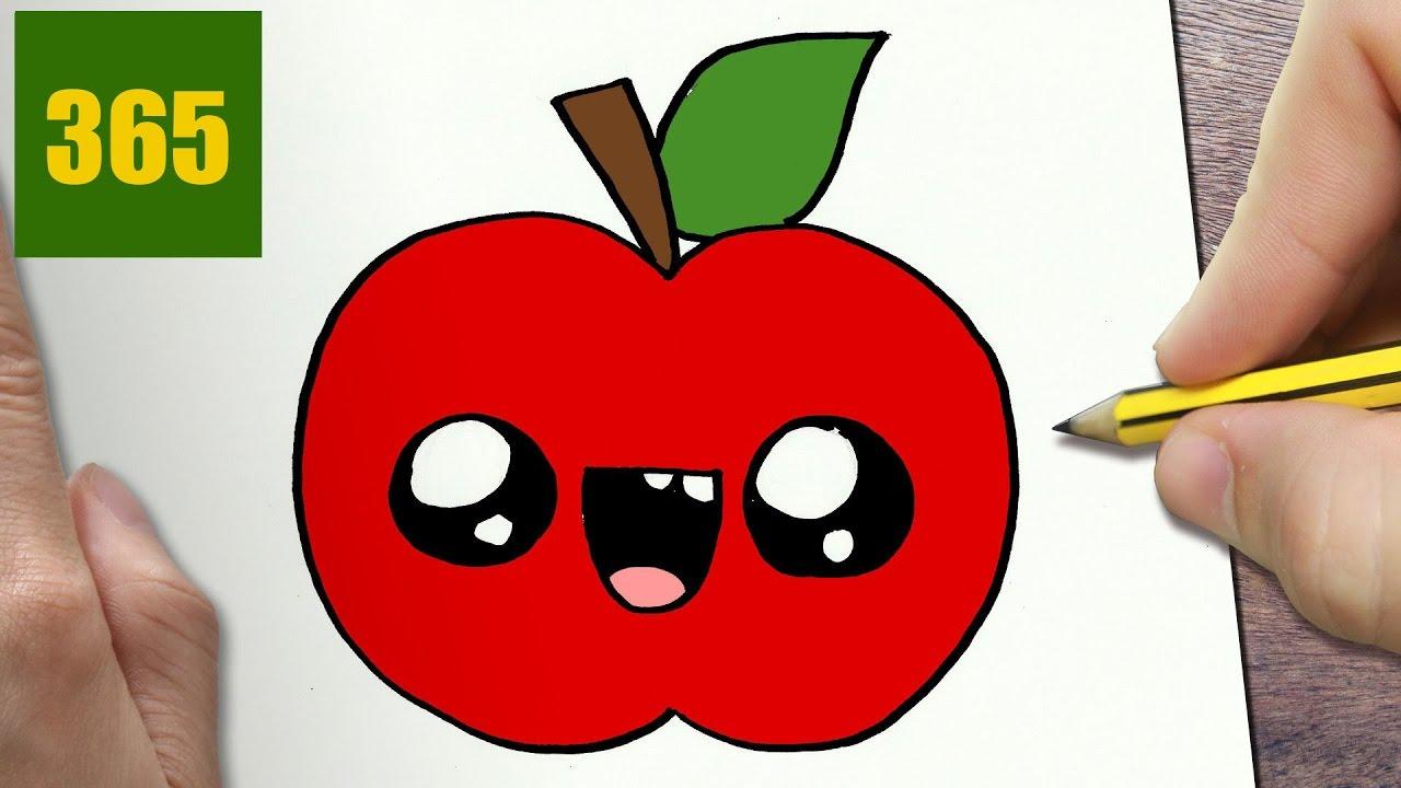 Come disegnare mela kawaii passo dopo passo disegni for Disegni facili kawaii