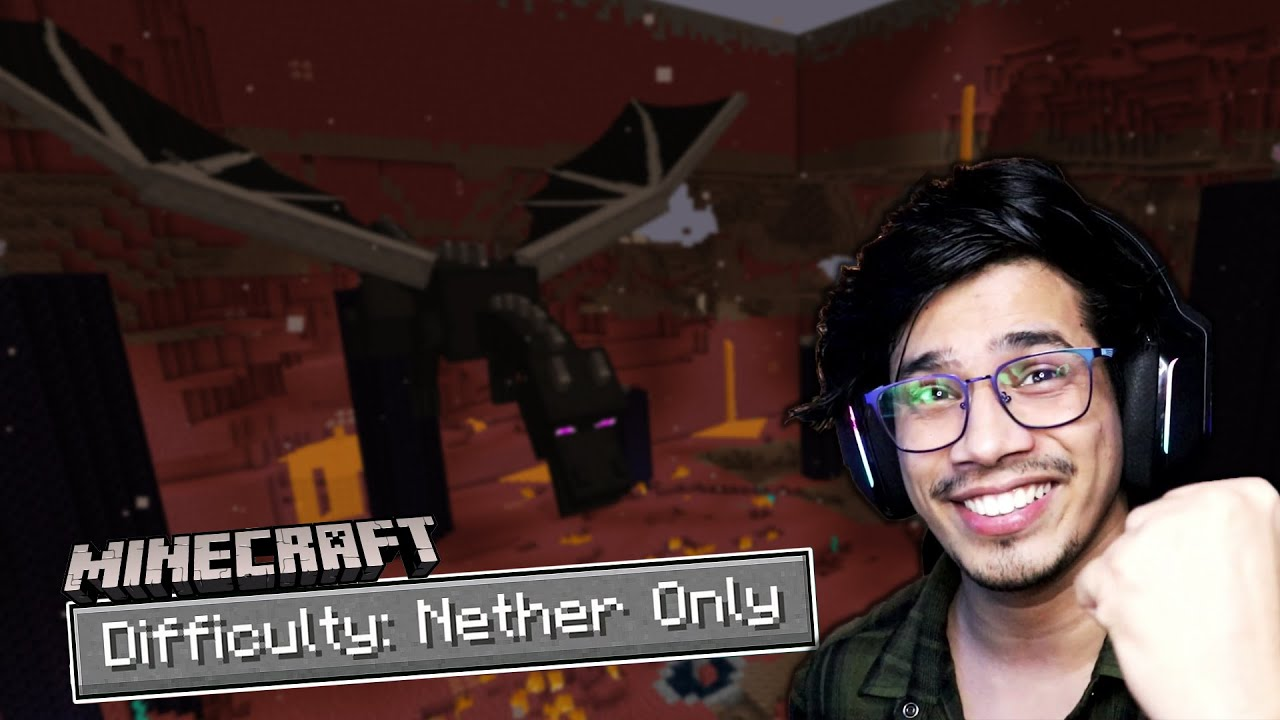 Beating Minecraft But I'm Trapped In NETHER