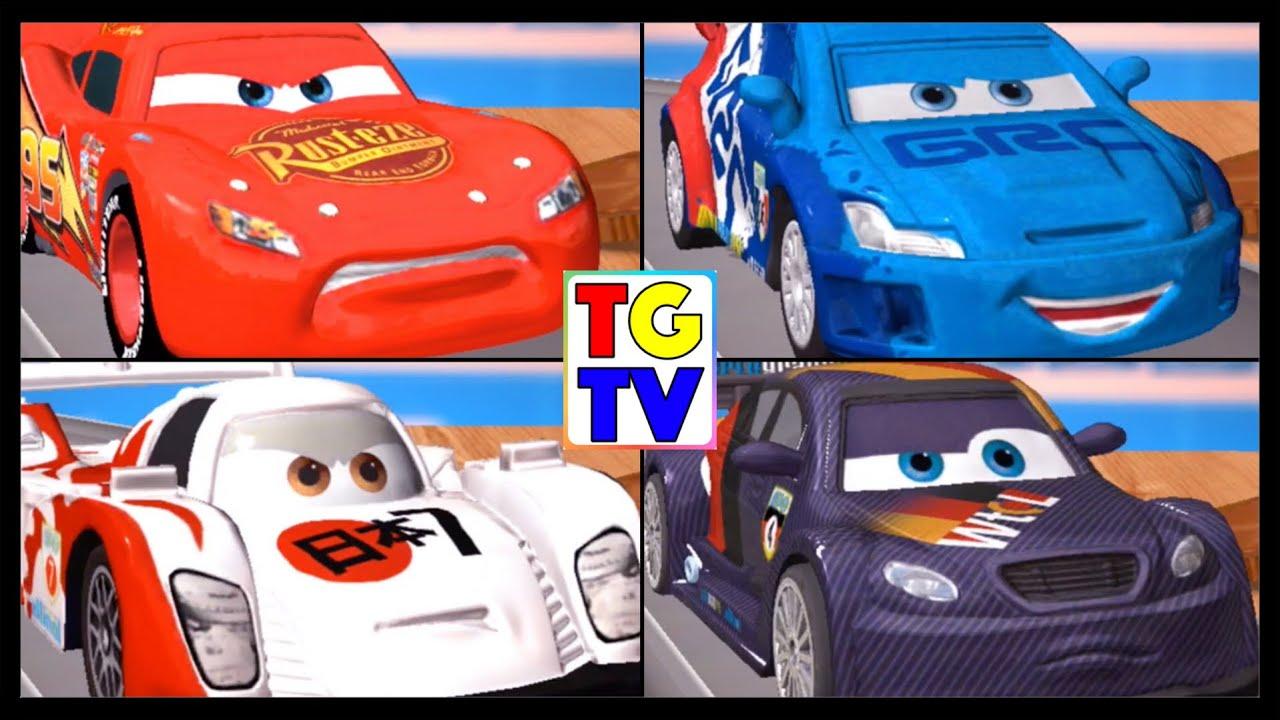 Disney Pixar Cars Lightning Mcqueen Raoul Shu Max 4 Screen