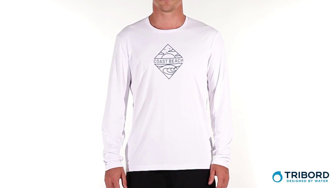 Mil millones Biblia neumonía  Camiseta de manga longa com proteção solar UV Masculina Tribord -  Exclusividade Decathlon - YouTube