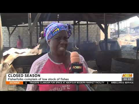 Closed Season: Fisherfolks complain of low stock of fishes- Badwam News on Adom TV (13-7-21)