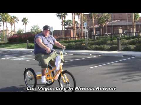 Morbidly Obese 430Lb Man Rides Industrial Tricycle-LasVegas WeightLoss Camp