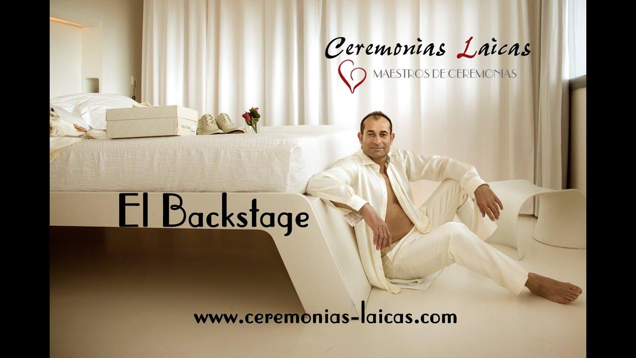 El Backstage Boda Civil de CEREMONIAS LAICAS Maestros de Ceremonias