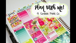 """Plan With Me! ft  Scribble Prints Co  """"Poolside"""""""