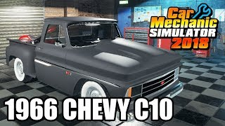 1966 Chevy C10 Mod - Car Mechanic Simulator 2018 Gameplay - Livestream