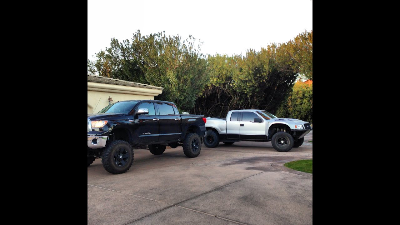 12 Quot Lifted Tundra And F150 Prerunner Youtube