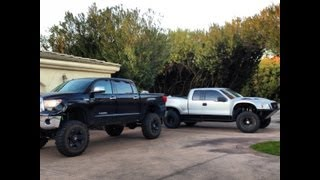 "12"" Lifted Tundra and f150 Prerunner"