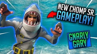 New Chomp Sr. Skin Gameplay! Fortnite: Battle Royale - Pro Console Player! Road to 2k!