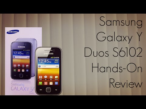 Samsung Galaxy Y Duos S6102 Hands-On Review - Android Smart Phone Video