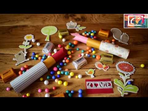 How to make Lipstick || Paper Lipsticks || Easy Cute Last minute gifts - D.I.Y