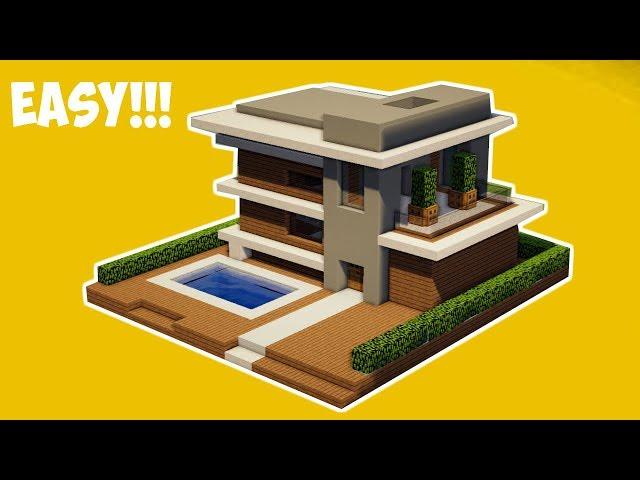 Minecraft Tutorial Cara Membuat Rumah Modern 22 Gamerhow