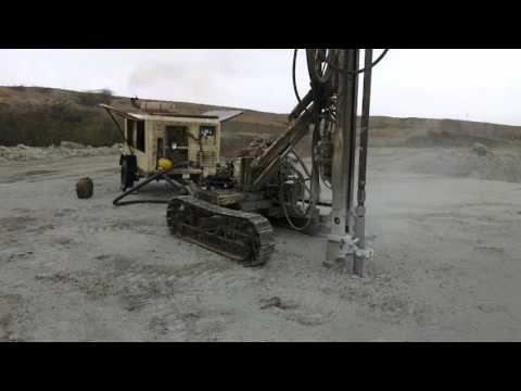 Drilling process in opencast mine