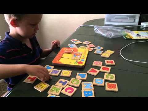 Homeschool: 4 Year Old Spelling Words Using Word Builder