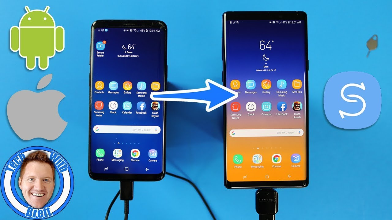 Galaxy S9 & Note 9 Samsung Smart Switch Transfer Guide (2018)