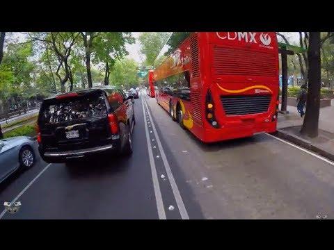 Rodar en bici por Reforma con metrobús CDMX 2018