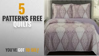 Top 10 Patterns Free Quilts [2018]: Quilt Coverlet Shams Set Twin/Twin XL Size Extra Long Single Bed