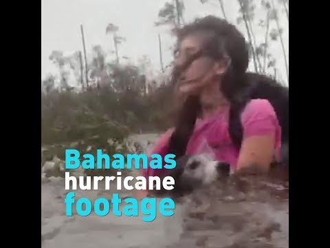 Amazing footage showing the destruction from hurricane Dorian