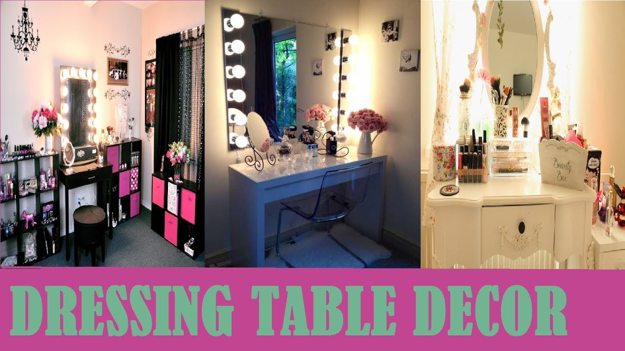 Best dressing table decoration ideas for girls - YouTube